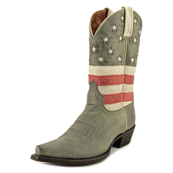 American Rebel Boot Company Stars and Stripes Leather Western Boot