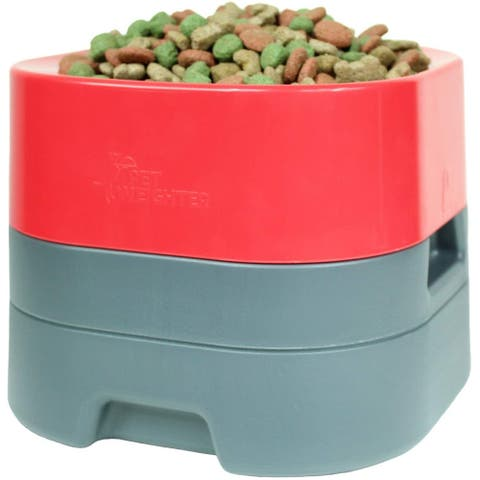 PetWeighter Bowl - Large & Heavy Dog Food Bowl - Elevated Dog & Cat Water Bowl (Small)