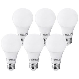 6 PACK 6W A19 LED Bulb, 2700K/5000K, 470lm for General Lighting