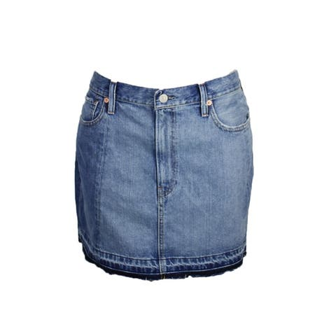 Denim Supply Blue Frayed Denim Skirt 25