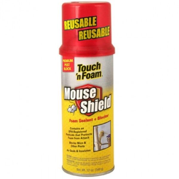 Touch 'n Foam 4001012506 Mouse Shield Foam Sealant & Blocker, 12 Oz