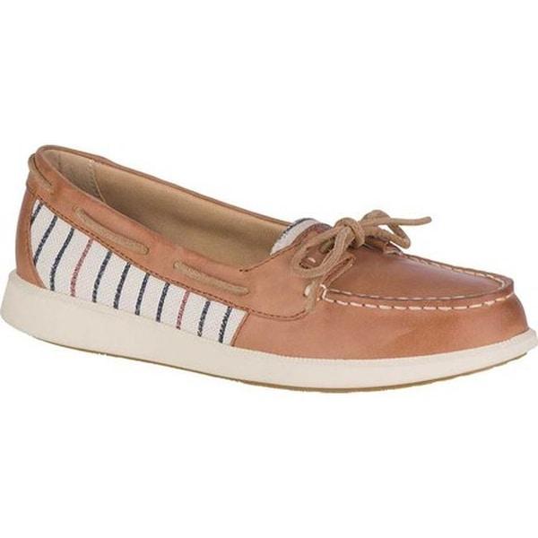 de495c25e Sperry Top-Sider Women's Oasis Loft Boat Shoe Tan Stripe Leather