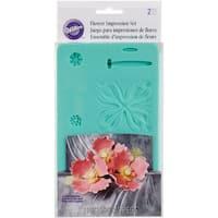 "Flower Impression Molds 6.5""X4.5"" 2/Pkg-"