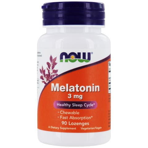 NOW Foods - Melatonin 3 mg. - 90 Lozenges