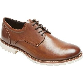 Rockport Men's Sharp & Ready Colben Cap Toe Oxford Brown Leather