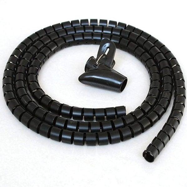 shop offex 5ft split loom cable wrap black 30mm diameter. Black Bedroom Furniture Sets. Home Design Ideas