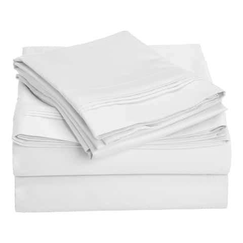 Miranda Haus 1000-Thread Count Tencel and Polyester Solid Bed Sheets