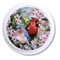 """Taylor 6733 Cardinal/Bunting Thermometer 13.5"""", Clear Bezel"""