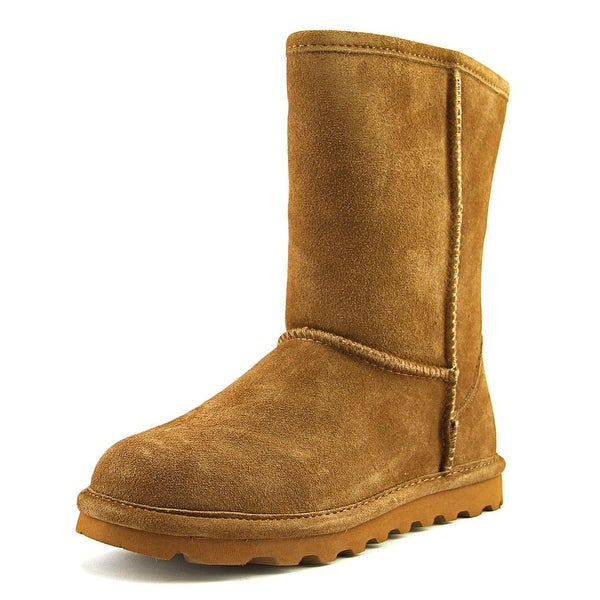 Bearpaw Elle Short Women Round Toe Leather Tan Winter Boot
