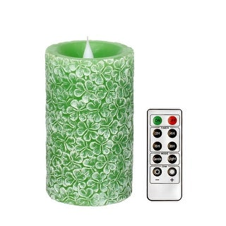 3D Flameless Flickering Led Candle with Remote. Battery Operated Electric Candle with Moving Wick,3.25x5.5 inch