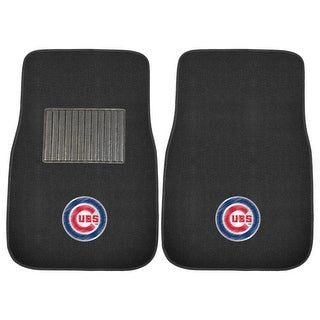 "MLB - Chicago Cubs 2-piece Embroidered Car Mats 18""x27"""