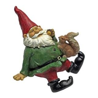 Design Toscano Osbert, the Garden Gnome Shelf Sitter Statue