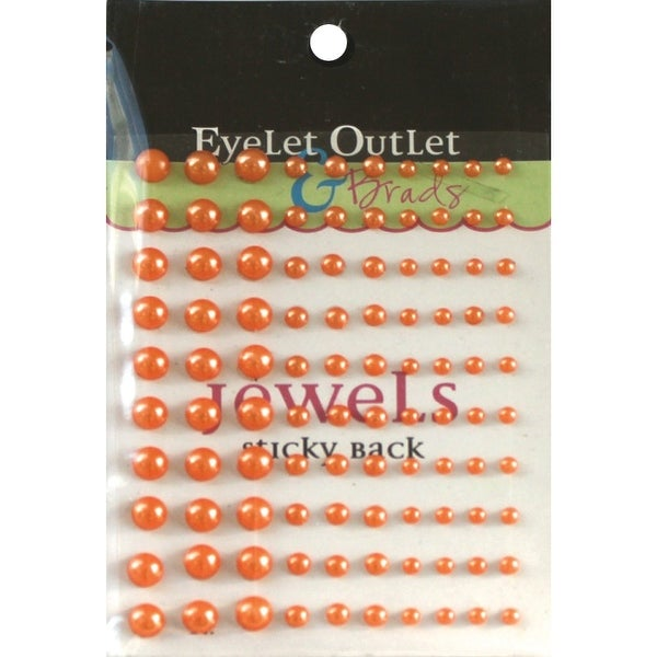 Bling Self-Adhesive Pearls Multi-Size 100/Pkg-Orange - Orange