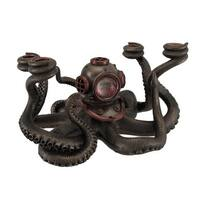 Incredibly Cool Steampunk Diver Octopus 4 Candle Candelabra