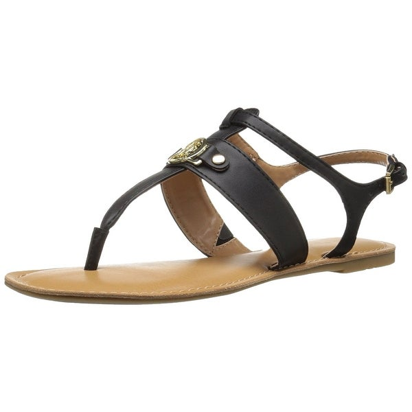 Tommy Hilfiger Womens Lelah Split Toe Casual T-Strap Sandals