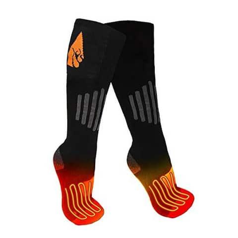 Actionheat Unisex Rechargeable 3.7V Battery Heated Socks, Adult, Black