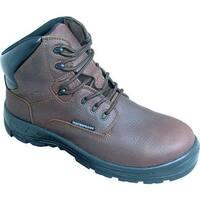 "S Fellas by Genuine Grip Men's 6051 Poseidon Comp Toe WP 6"" Hiker Work Boot Brown Full Grain Leather"