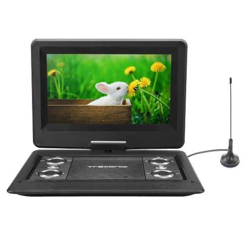 "Trexonic12.5"" PortableTV&DVD Player w/TFT LED Screen & USB/HD Inputs"