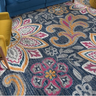 Link to Porch & Den Unger Transitional Floral Area Rug Similar Items in French Country Rugs