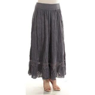 INC $79 Womens New 1381 Blue Maxi Shift Casual Skirt M B+B