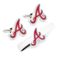 Cufflinks PD-AB-CT Atlanta Braves Cufflinks & Tie Bar Gift Set