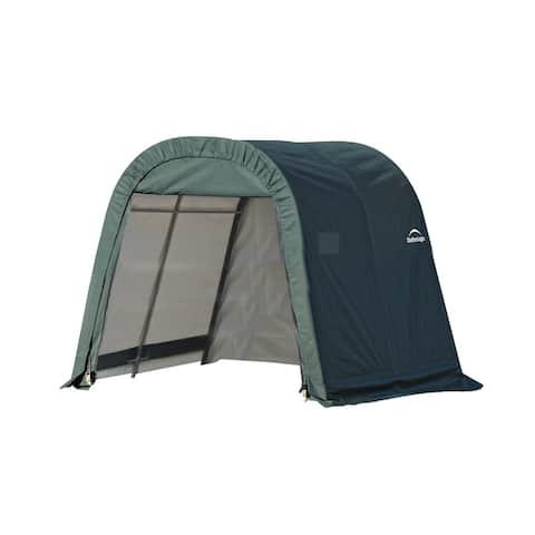 Shelterlogic Outdoor Round Garage Boat/ Car Green 8 x 8 x 8-foot Storage Shed