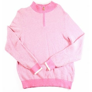 Vineyard Vines NEW Pink Mens Size Small S Printed 1/2 Zip Sweater