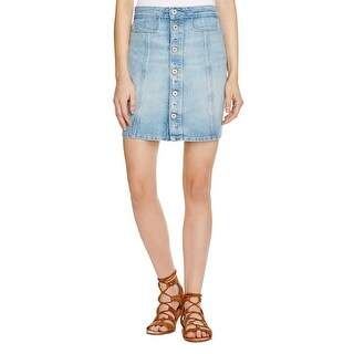 Paige Womens Denim Skirt Mini Jean