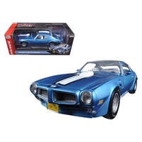 1972 Pontiac Firebird Trans Am Adriatic Blue Limited Edition to 1002pc 1/18 Diecast Model Car by Autoworld