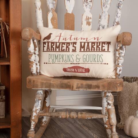 Farmer's Market Harvest Pillow 14x22