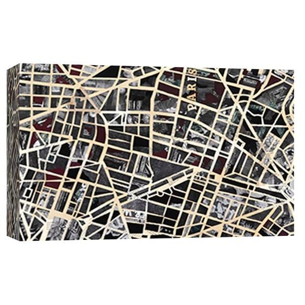 "PTM Images 9-101799 PTM Canvas Collection 8"" x 10"" - ""Paris"" Giclee Maps Art Print on Canvas"