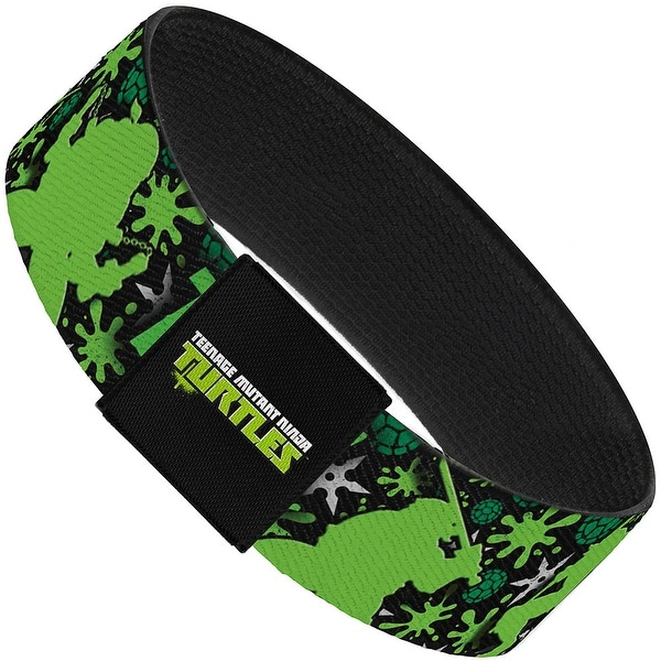 Trust Me I'M A Ninja New Series Turtle Silhouettes Black Green Elastic Elastic Bracelet