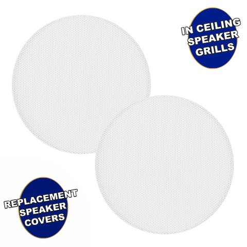 """Acoustic Audio AA8CG Replacement In Ceiling Grills for 8"""" Woofer Speakers 2 Pack"""