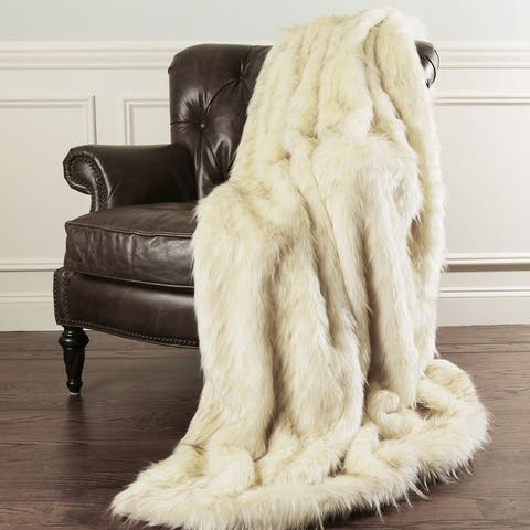 Aurora Home Faux Fur Throw Blankets by Wild Mannered
