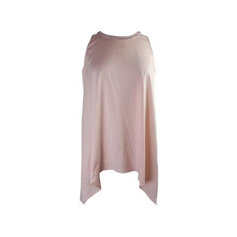 Alfani Embellished Asymmetrical-Hem T Pink Bliss 6 6
