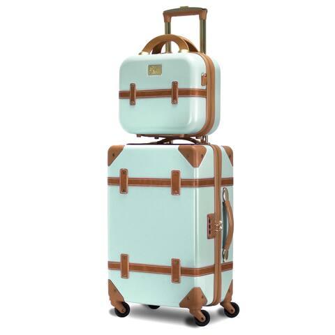 Gatsby 2 Piece Hardside Carry-On Luggage Set Mint