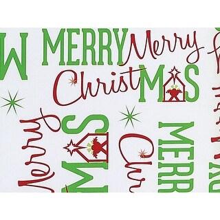"Merry Christmas Manger 24""x417' Roll Gift Wrap"