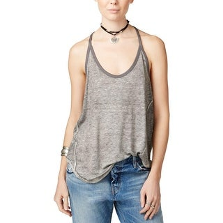 Free People Womens Tank Top Scoop Neck Spaghetti Straps