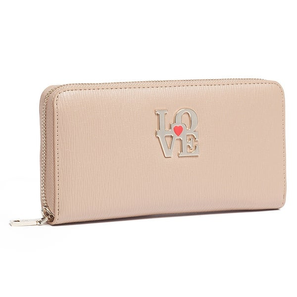 Moschino JC5508 0209 Taupe Zip Around Wallet - 7.5-4-1.2