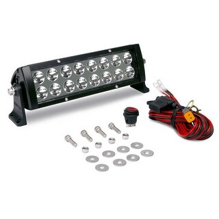 Viair 31021 10 in. 5W High Powered 16 LED Light Bar, Flood Beam