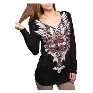 Harley-Davidson Women's Trust Live Free Embellished T-Shirt, Black HD138BLK