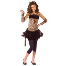 Girls Wild Cat Jungle Dress Halloween Costume