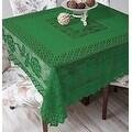 Tablecloth Grega Design Brazilian Lace 59x59 Inches Green Color 100 Percent Polyester - Thumbnail 0