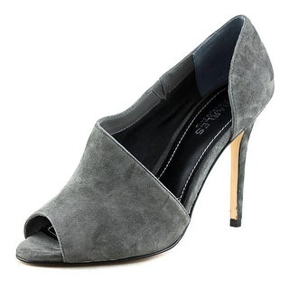 Charles By Charles David Reward Women Open Toe Suede Gray Sandals