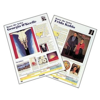 Crystal Productions Know the Artist Posters Set G, 18 x 24 Inches, Set of 8