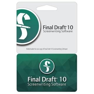 Final Draft 10 for Windows-Mac