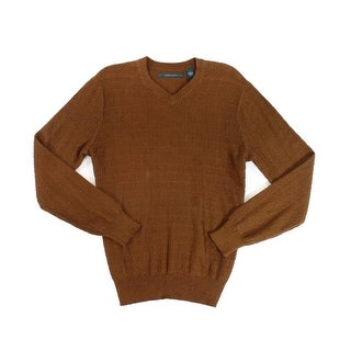 Perry Ellis NEW Bright Chestnut Brown Mens Size XL V-Neck Sweater
