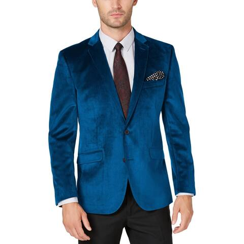 Kenneth Cole Reaction Mens Big & Tall Blazer Velvet Two-Button