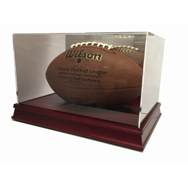 Max Pro Executive Wood Full Size Football Display Case with Mirror - Cherry