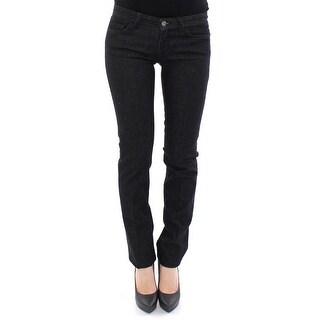 Dolce & Gabbana Dolce & Gabbana Black CUTE Cotton Regular Fit Jeans Pants - w25